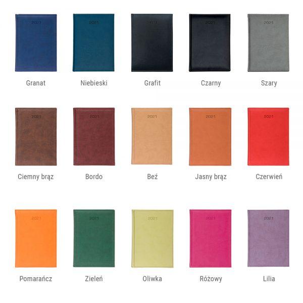 Kalendarze książkowe kolory