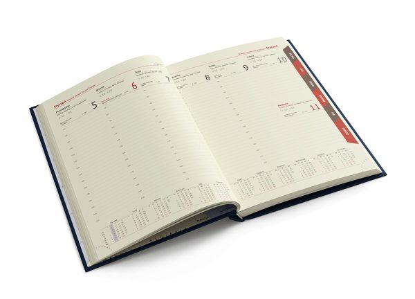 Kalendarze książkowe kalendarium tygodniowe