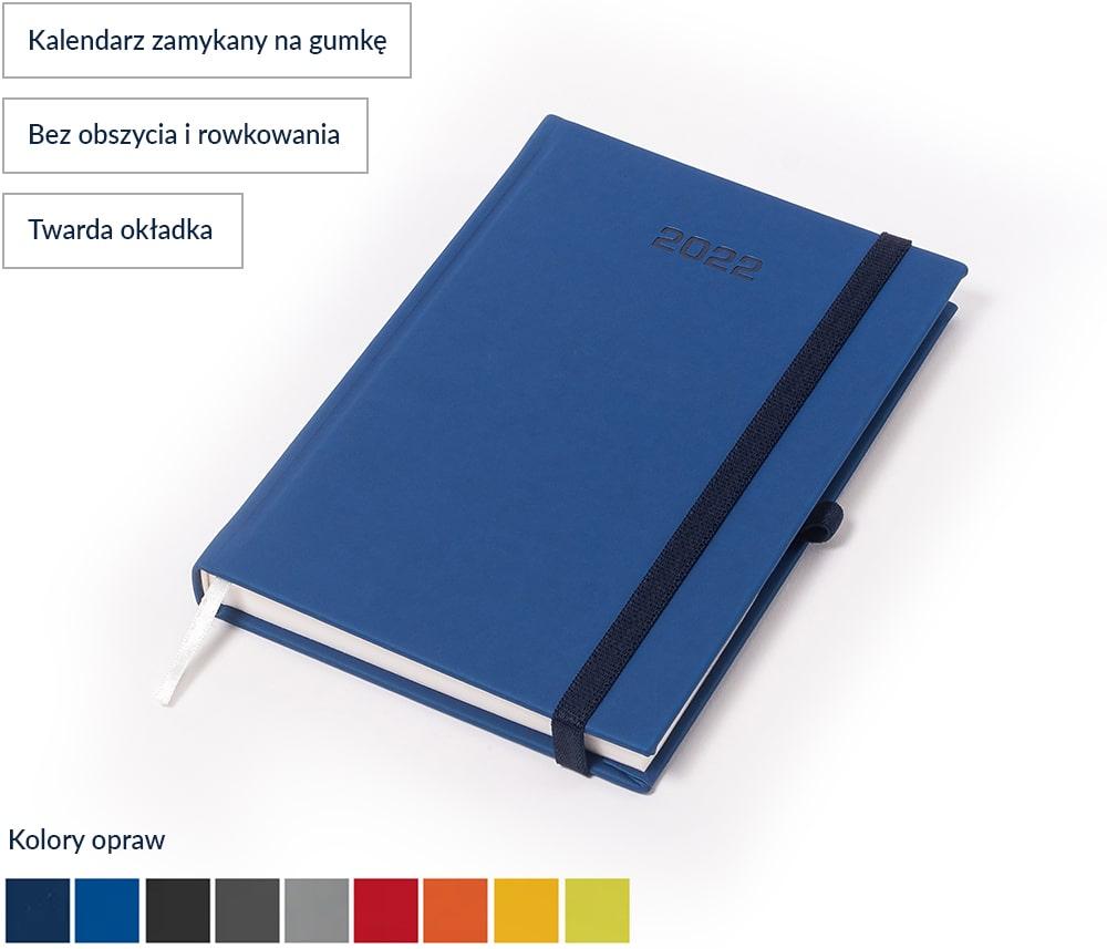 Kalendarz książkowy Smooth z gumką